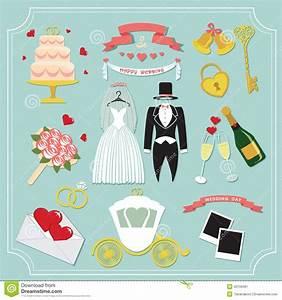 Vintage Set For Wedding Invitation . Cute Design Elements ...