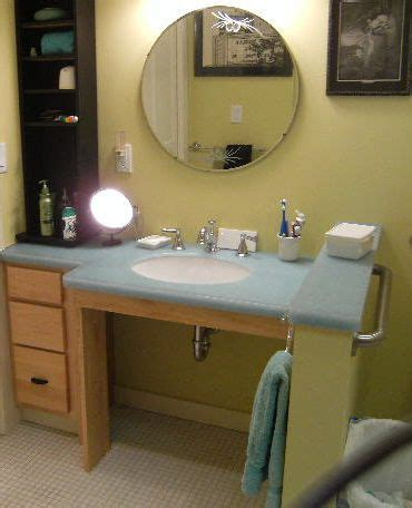 handicapped sink vanity  reason wheelchair accessible
