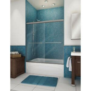pass tub bath tub shower by pass sliding door frameless 55 quot 59