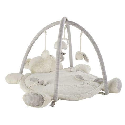 tapis ourson chambre bébé tapis d 39 éveil ourson en coton 60 x 90 cm gaspard maisons