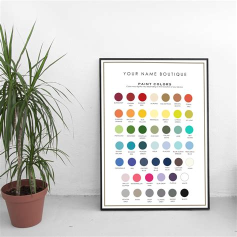 paint color chart milk paint supplies fabric swatch etsy