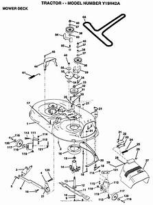 Ayp  Electrolux Y19h42a  1995  Parts Diagram For Mower Deck