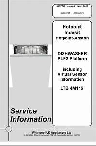 Hotpoint Ltb 4m116 Dishwasher Service Manual  U0026 Technicians