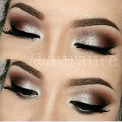 silverbrown smokey eye makeup pinterest