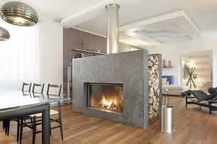 Two Sided Fireplace Insert by Il Caminetto Bifacciale Design Therapy