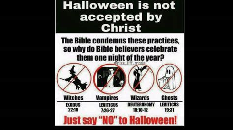 Say No To Halloween Bible Youtube