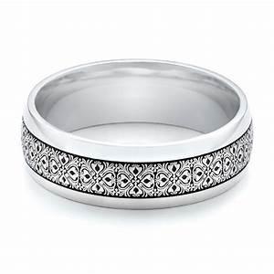 Men39s Engraved Wedding Band 101060