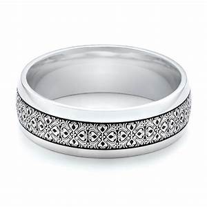 men39s engraved wedding band 101060 With engraving on mens wedding rings