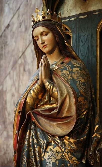 Mary Mother Virgin Guadalupe Blessed Statue Religious
