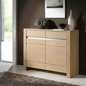 Meuble En Chene Massif : meuble d 39 entr e contemporain en ch ne massif ~ Dailycaller-alerts.com Idées de Décoration