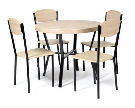 chaises casa table 4 chaises casa noir chene