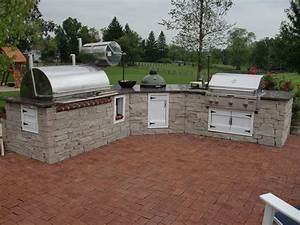 outdoor kitchen with smoker grill and bge outdoor With outdoor kitchen designs with smoker