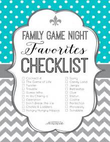 family favorites checklist happiness is