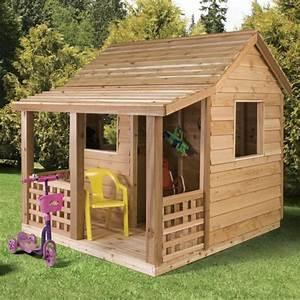 Cabane En Bois : la cabane de jardin pour enfant est une id e superbe pour ~ Premium-room.com Idées de Décoration