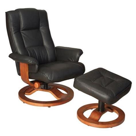 fauteuil de relaxation cuir noir relaxo achat vente