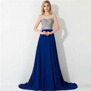 robe de soiree luxury beaded royal blue evening dresses With robe de soirée 2015