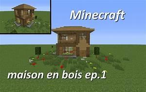 minecraft maison en bois ep 1 YouTube