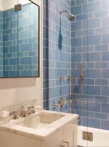 Blue Tile Bathroom Ideas Blue Glass Bathroom Tiles Design Ideas