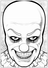 Pennywise Clown Halloween Coloring Pages Drawing Adults Draw Drawings Horrible Dare Printable Easy Would Step Adult Print Template Happy Dessin sketch template