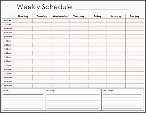 week planner template easy   sampletemplatess