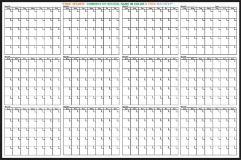 Blank One Month Calendar Template by 12 Month Blank Calendar Printable Calendar Template 2018