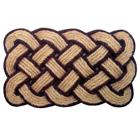braided coir doormat creative accents rope brown 18 in x 30 in coir
