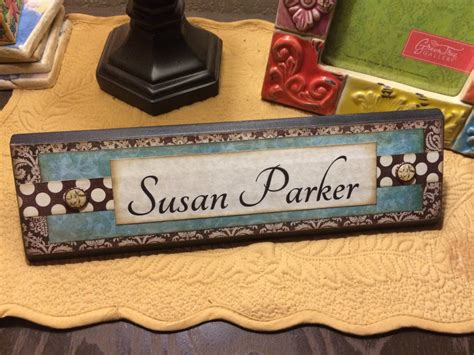 Cool Desk Name Plates by Unique Wooden Office Desk Name Plate Plaque Block Handmade