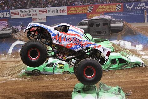 how many monster trucks are there in monster jam madusa is a female chion in a man 39 s world again