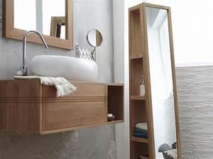 Meuble Pour Petite Salle De Bain : rangements ultra pratiques pour une petite salle de bains elle d coration ~ Melissatoandfro.com Idées de Décoration