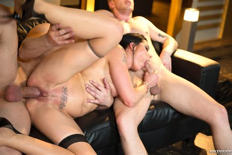 Alexis Crystal Loses Her Anal Virginity In An Orgy With
