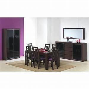 Salle A Manger Noir : salle manger design contemporain weng laque noir 10 pi ces ~ Premium-room.com Idées de Décoration