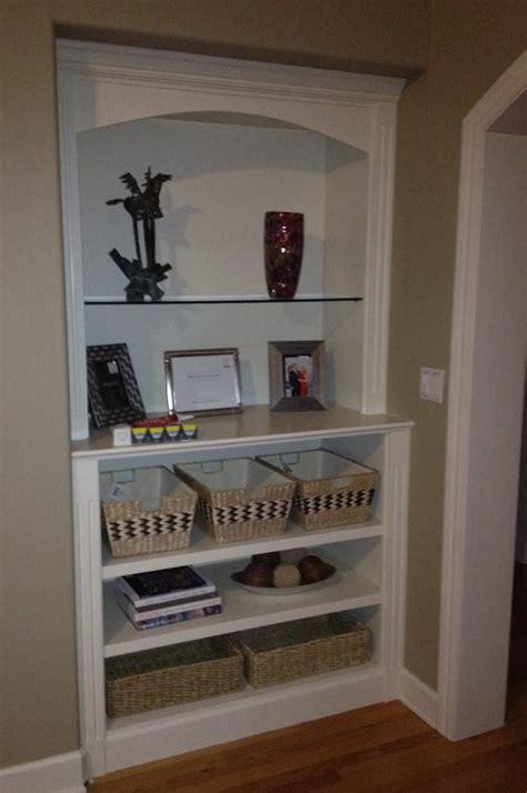 built in curio cabinet w recessed halogen lighting meryl