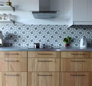 Crédence Carreaux De Ciment Adhesif : plan de travail cuisine 50 id es de mat riaux et couleurs ~ Premium-room.com Idées de Décoration