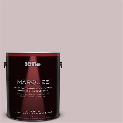 behr marquee 1 gal 750a 3 vintage taupe flat exterior paint 445401 the home depot