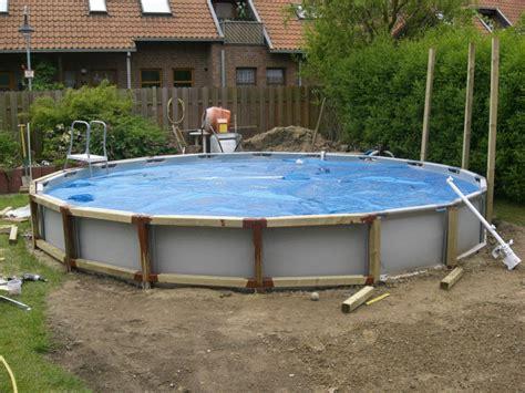 frame pool verkleiden intex frame pool in erde einlassen above ground pools tubs in 2019 swimming pool decks
