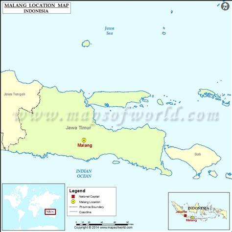 malang location  malang  indonesia map