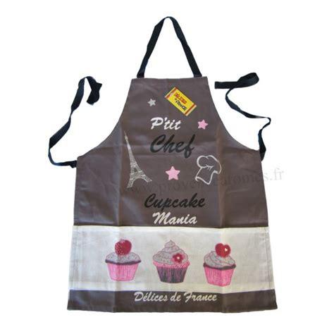 tablier cuisine tablier de cuisine enfant cupcake p 39 chef gris provence arômes tendance sud