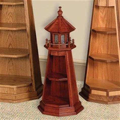 amish small oak lighthouse  shelf gifts