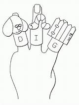 Coloring Puppet Finger Printable Templates Bible Popular Template sketch template