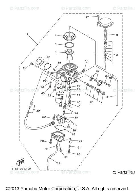 yamaha atv 2008 oem parts diagram for carburetor partzilla com