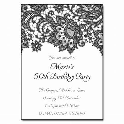 Party Invitations Birthday Lace Floral Invitation Wording