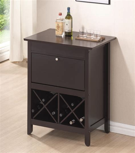 Baxton Studio Tuscany Brown Modern Dry Bar And Wine Cabinet
