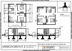 House Autocad Floor Plan With Dimensions