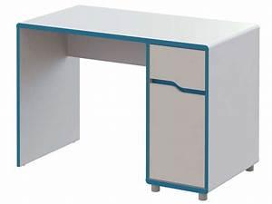 Bureau Ikea Pas Cher : bureau moby coloris blanc et bleu vente de bureau conforama ~ Teatrodelosmanantiales.com Idées de Décoration