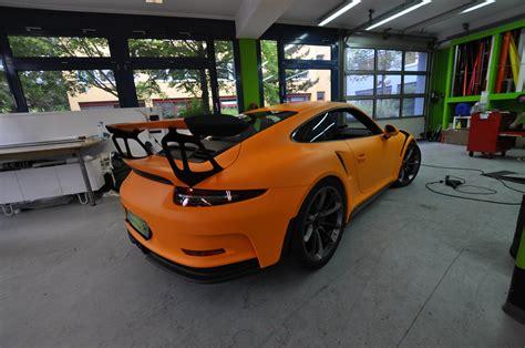 porsche  gt rs  retro   racing orange