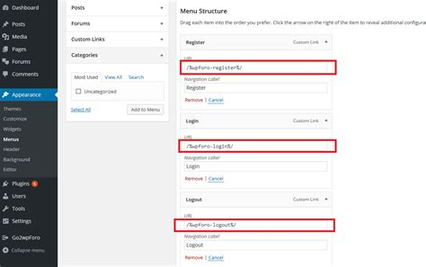 How To Add Login/logout/registration Buttons/links To
