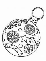 Coloring Christmas Ornament Pages Bulb sketch template