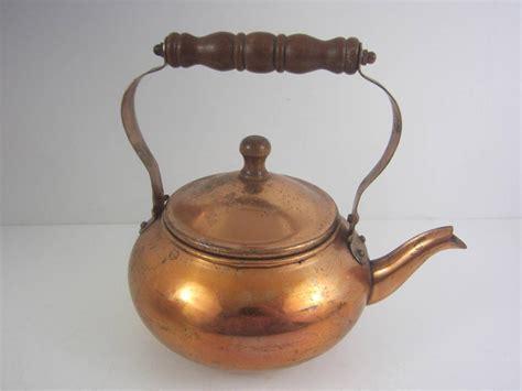 Antique Vintage Copper Tea Kettle Pot Decorative 2 Cup