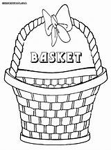 Basket Coloring Pages Basket3 sketch template