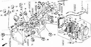 Honda Motorcycle 1992 Oem Parts Diagram For Wire Harness